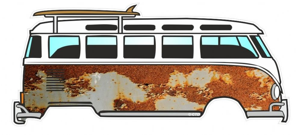 Rust Rusty Paint Patina Design For Retro Vw Split Screen